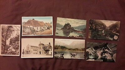 7 x Old postcards Ireland - St Patrick's R C Church Skerries, Colleen Bawn Caves