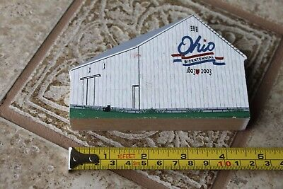 2003 Ohio Bicentennial Barn Shelby County The Cat's Meow Wooden R1075