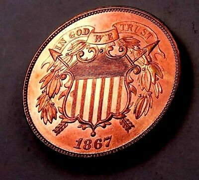 1867 Two Cent Piece (2 Cent) // Gem Proof *red* // (TC1185)