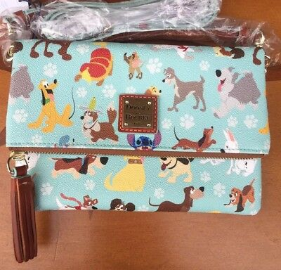 NWT Disney Dogs Dooney & Bourke Foldover Bag  Crossbody Small Handbag Sold Out