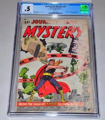 Journey Into Mystery 83 CGC 0.5 CR/OW Pages 1st Thor