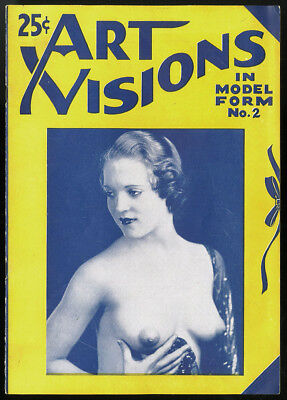 1920s Antique Art Visions In Model Form No. 2 Risqué Nude Girlie Photos Magazine