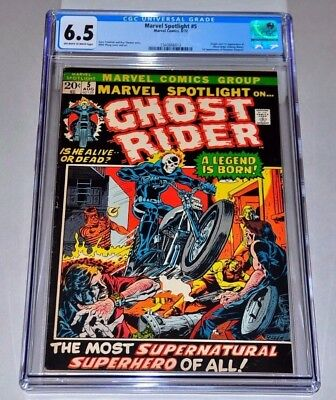 Marvel Spotlight 5 CGC 6.5 OW/W Pages 1st Ghost Rider