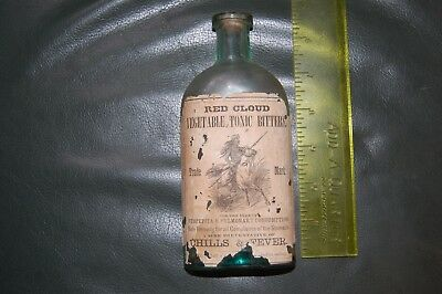 Labeled Red Cloud Vegetable Tonic Bitters Bottle