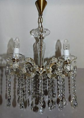 Beautiful Vintage Bohemia Lead Crystal and Cut Glass Marie Therese Chandelier