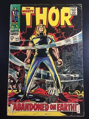 MARVEL Comics THOR #145 Key SILVER AGE Art by JACK KIRBY VG- (3.5) Ships FREE!