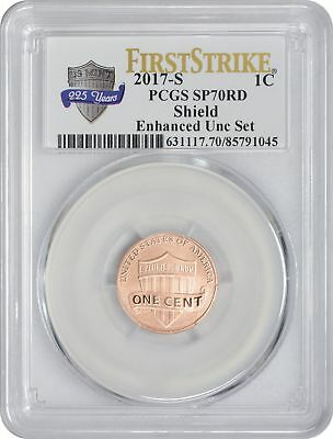2017-S Enhanced Uncirculated Set Lincoln Cent SP70RD PCGS First Strike Ann.
