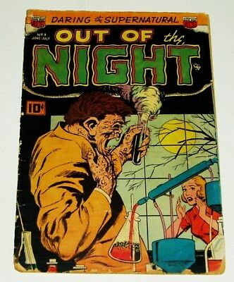 Acg Comics #3 Out Of The Night Golden Age Comic 6/1952 Good/very Good-