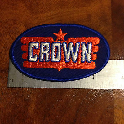 Vintage Crown Oil & Gasoline Company Jacket Shirt Advertising Patch