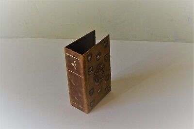 Vtg Embossed Leather Fake Book For Hiding Valuables