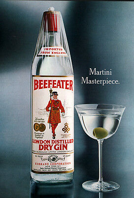 Ad Lot Of 7 Beefeater London Distilled Dry Gin Martini Ads