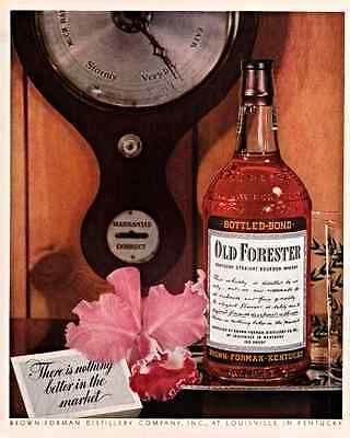 Ad Lot Of 3 1940 - 1960 Old Forester Whiskey Ads Decanter