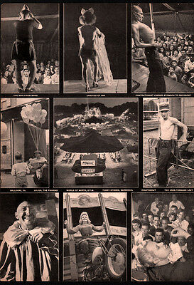 Ad Lot Of 2 Ads Retro Kitchen Steel American Circus Performers World Of Mirth