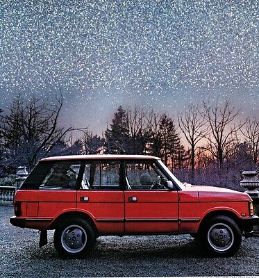 "1989 Ad Land Rover Range Rover ""you're About To See A Luxury Become """