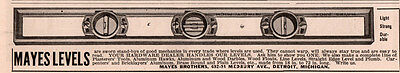 1915 C Ad  Mayes Brothers Levels