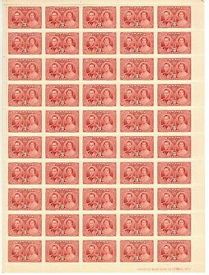 Canada Stamp #237 Inscription Sheet 50 stamps Plate 2 LR MNH Coronation