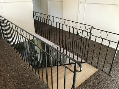 Metal staircase hand rails- last chance(House to be abolished soon)