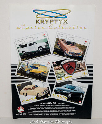 Holden Master Collection Trading Cards Kryptyx  Brochure Promotional Rare Advert
