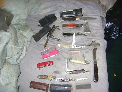 Lot Of Pocket Knifes