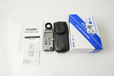 Sekonic L-358 Flash Master Full Kit Excellent Condition