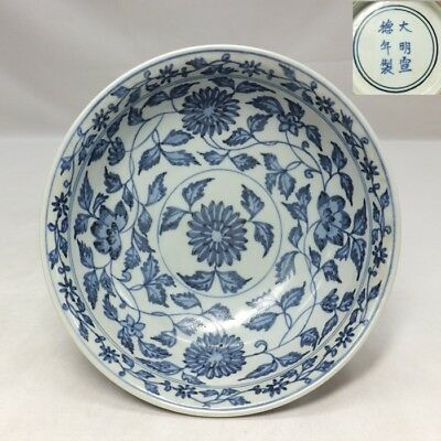 D561: Chinese blue-and-white porcelain bowl with good painting and name of era