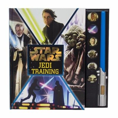 NEW Star Wars Jedi Training Book Deluxe with Lightsaber Lights & Sound RARE
