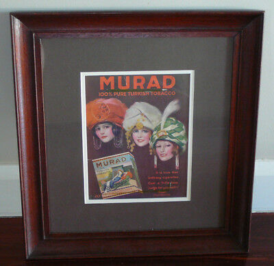 MURAD Tobacco - Pin-Up Girls - Framed Advertisement