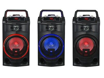 Altavoz Portatil 3 Altavoces Bluetooth Usb Radio Fm Karaoke Bateria Recargable