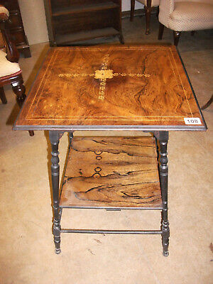 108 - Victorian Rosewood Two Tier Occasional Table