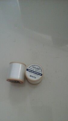 2no Sylko White Cotton Thread