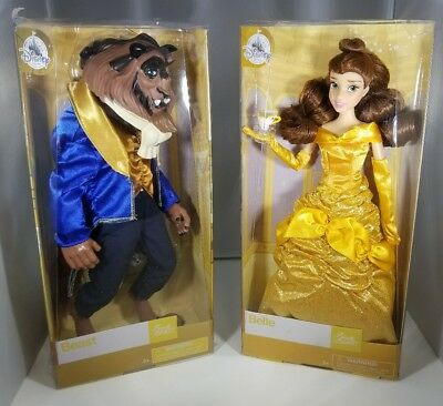 Disney Store Belle and The Beast Classic Dolls 12'' Set - Beauty And The Beast