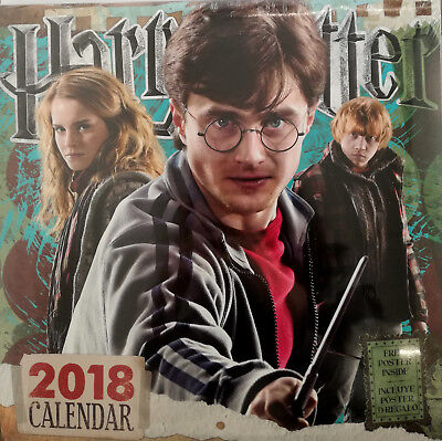 Calendario 2018 - 12 mesi - Harry Potter - Ron - Hermione (formato 30x30 cm)