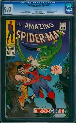 Amazing Spider-Man #  49  You Name it..This One's Got it ! CGC 9.0  scarce book!