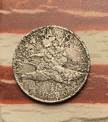 1858 1C Flying Eagle Penny Cent Vintage US Copper Coin #PD4