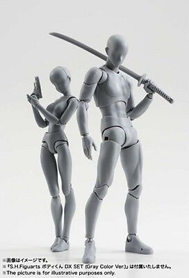 Body Kun DX Set Male Gray Color Variable Doll PVC Figure Model SHF S H Figuarts