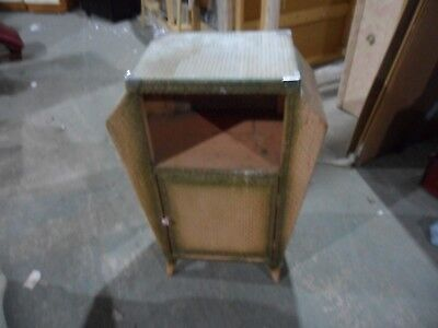 unusual antique lloyd loom like cabinet vintage  upcycling  shabby chic
