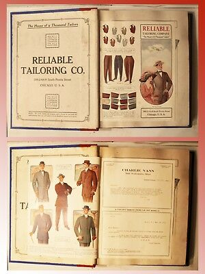 Early 1900's Mens Fashions Salesman's Swatch Book By Reliable Tailoring Co.