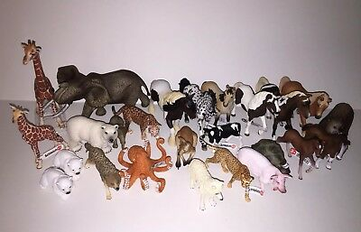 Schleich Wild & Farm Animal LOT Of 25 NEW WITH TAGS!