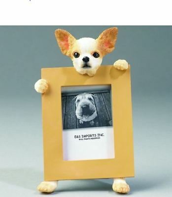 "Chihuahua Tan Dog Photo Picture Frame Gift Resin 2-1/2""x3-1/2"""