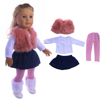 4pcs Clothes Set For 18'' American Girl Doll Outfit Princess Dress Accessories