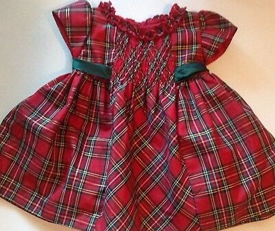 gorgeous bonnie baby toddler 18 month red plaid holiday christmas dress