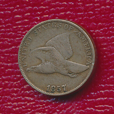1857 Flying Eagle Cent **fine Coin** Free Shipping!