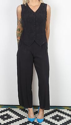 Jumpsuit UK 8-10 XS Small  All in one 1980's Vintage  80's (65D)