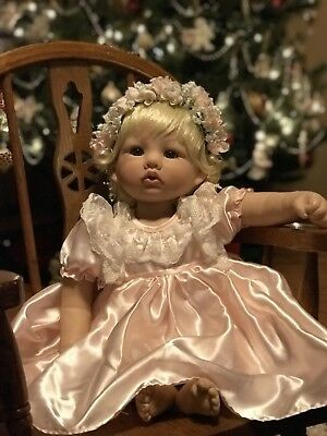 """Heaven Must Have Sent You"".   Silicone Baby Doll.  Linda Rick The Doll Maker"