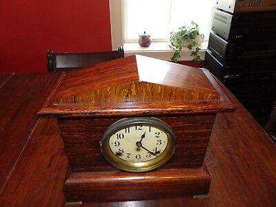 Antique Seth Thomas Adamantine Mantle Clock w/89C Chime Movement in working cond