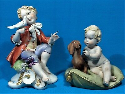 Two Vintage Signed Capodimonte Figurines - NO RESERVE