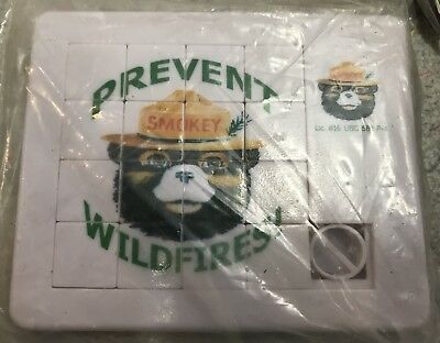 Smokey the bear prevent Wildfires puzzle game~New in orig packaging~Free Ship