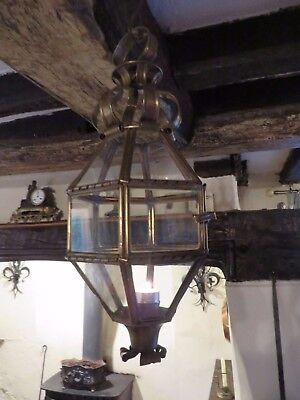 Delightful Vintage French Brass Candle Lantern ~ Period Or Country Interior
