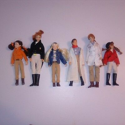Breyer Horses Articulated Doll Figures English Rider Vet Riggins lot of 6 people