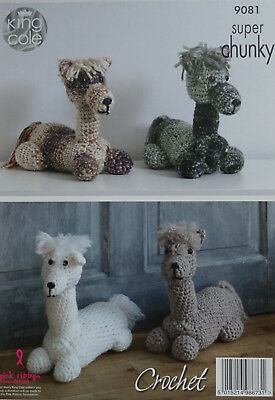 CROCHET PATTERN Alpaca Doorstop/Stuffed Toy - Super Chunky King Cole 9081